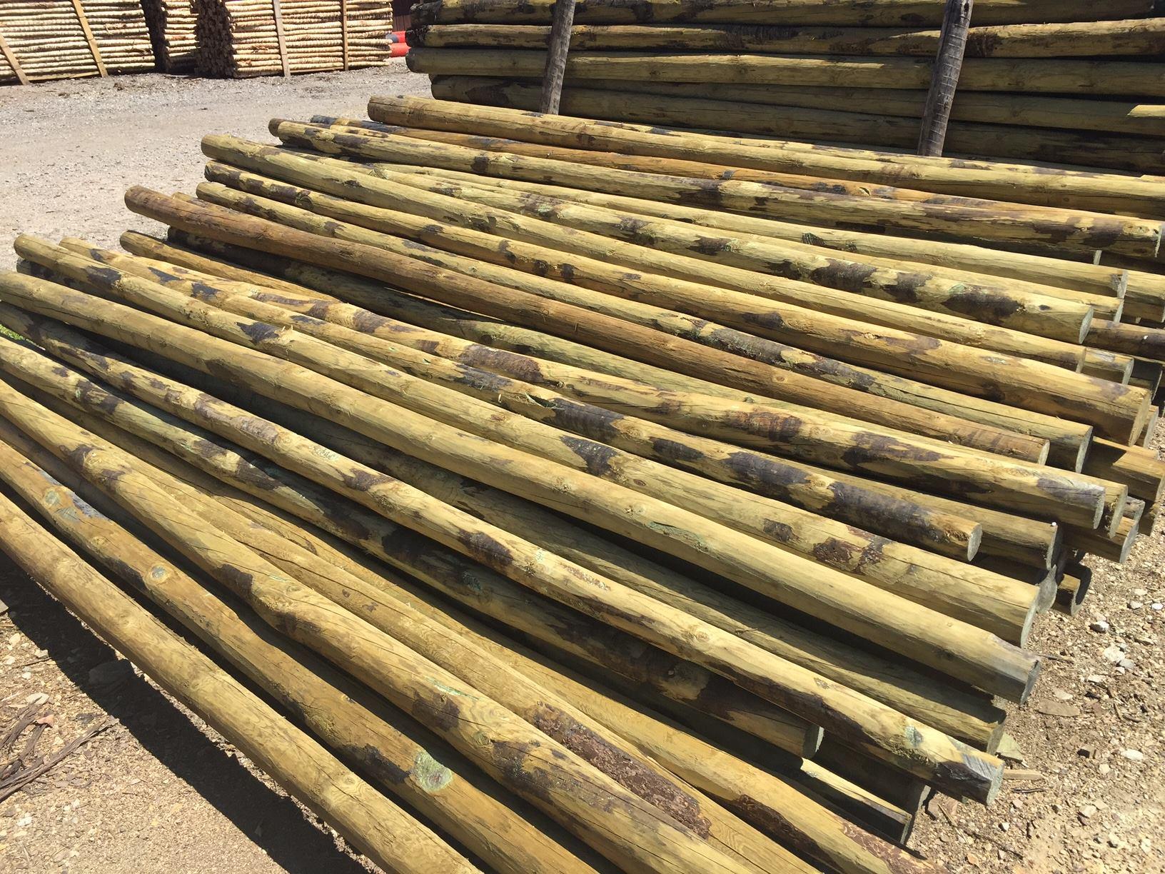 Palos redondos tablones y tablas maderas madesur for Antecomedores redondos madera